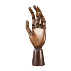 Artist hand model, H25 x D10cm, honey distressed maple/beech