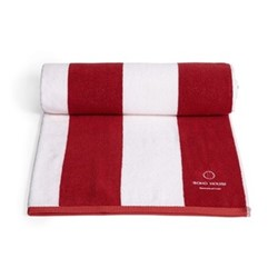 Shoreditch House pool towel, red