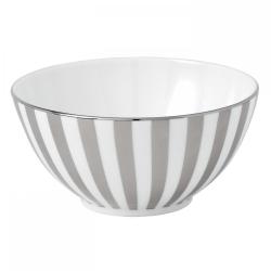 Platinum Gift bowl, 14cm, Striped