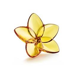 Bloom Flower ornament, W4 x L9cm, amber
