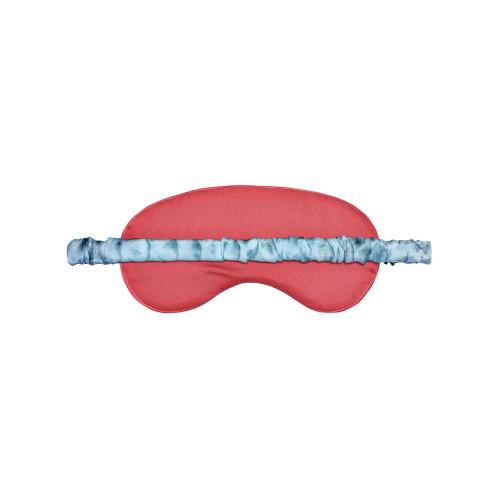 Blue Goddess Silk eye mask, L19 x W9cm, Silk With Elasticated Band