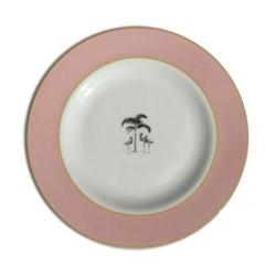 Harlequin - Pink Flamingo Dinner plate, D26cm, pink