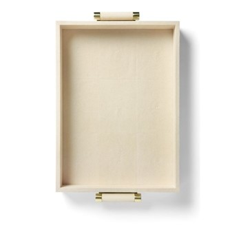 Classic Shagreen Serving tray, cream