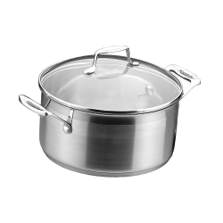 Impact Dutch oven with lid, 2.5 litre - D18cm, Stainless Steel And Glass