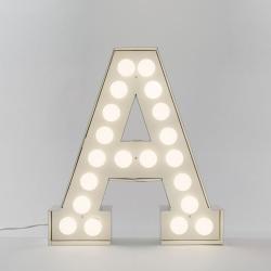 Vegaz Alphabet lamp 'A', 60cm, Metal With Led Light Bulbs