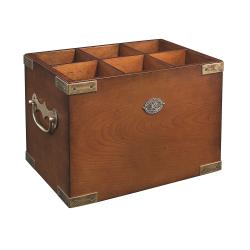 Six-in-One Wine storage, H22 x W34 x L23cm, Honey Distressed Wood