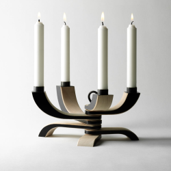 Nordic Light Fold-able candle holder, 20.5 x 13 x 5cm, Black