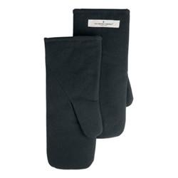 Canvas Large oven mitts, 16 x 35cm, dark grey