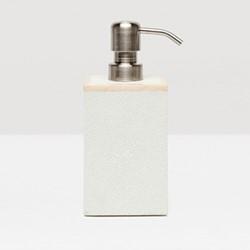 Manchester Soap pump, H2.5 x W10 x L15cm, snow faux shagreen