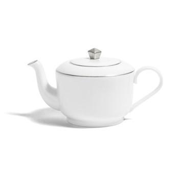 Line - Colour Large deco teapot, H12cm - 700ml, metallic platinum