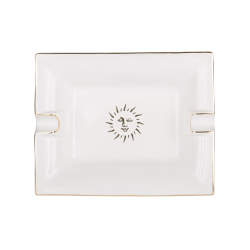 Sun Trinket tray, L20 x W16 x H3.6cm, White And Gold