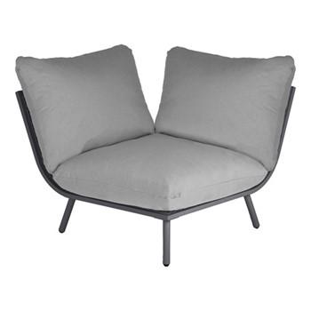 Beach Lounge corner seat, H63 x W98 x D98cm, flint/grey