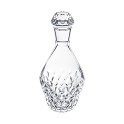 Folia Round decanter, H26 x D6cm, clear crystal