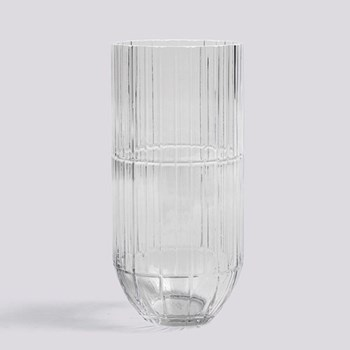 Colour Extra large glass vase, H27.5 x W13cm, clear