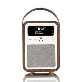 Monty DAB radio & bluetooth speaker, H18.6 x W13 x D10cm, walnut