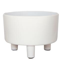 Pisa Bowl planter, H14 x W19 x D19cm, White