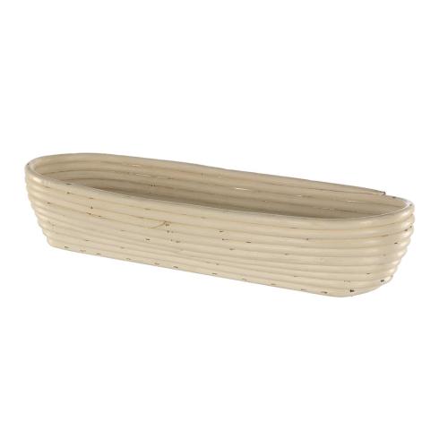 Oval long banneton basket, 40 x 16 x 7.5cm, Natural Cane
