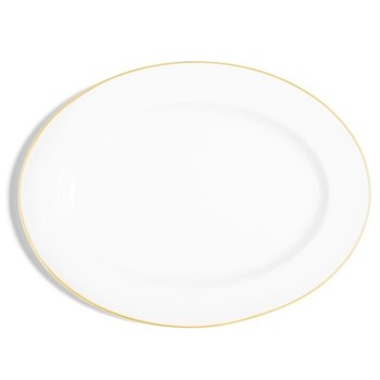 Line - Colour Oval serving plate, 40cm, metallic gold