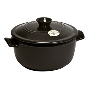 Round casserole with lid, 22 x 22 x 15cm -  2.5 Litre, charcoal