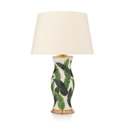 Palm Beach Lamp with plain shade, 41 x 61cm