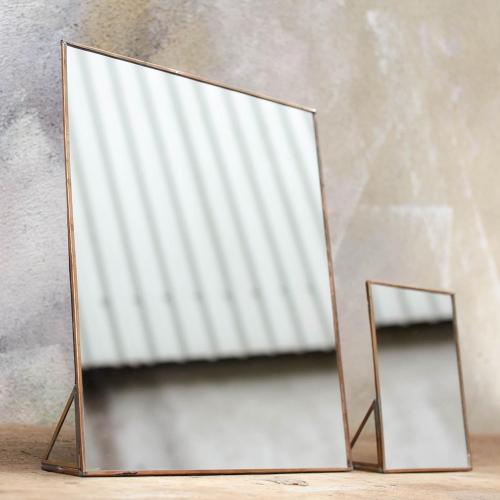 Kiko Standing mirror, 35 x 30 x 5cm, antique brass