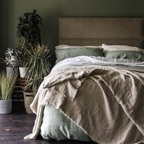 Pair of kingsize pillowcases, 50 x 90cm, Sage Green