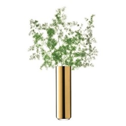 Karat Vase, H35 x D10cm, gold