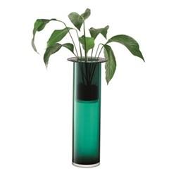 Nest Vase, H65 x D25.6cm, marine green/slate