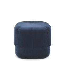 Circus Small pouf, L46 x H40 x D46cm, Blue