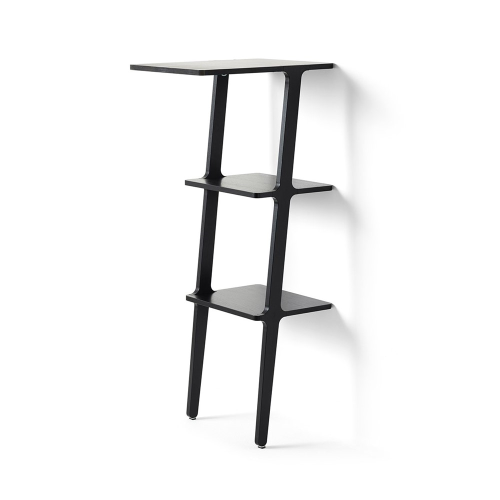 Libri Standing table, W38 x D50 x H114cm, Black Ash