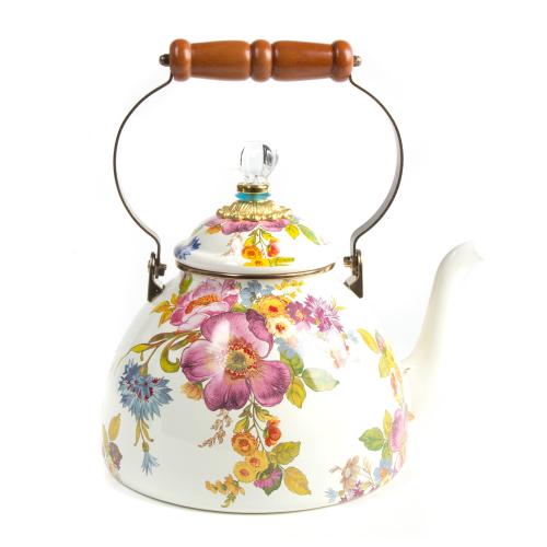 Flower Market Tea kettle, 3.4L, White