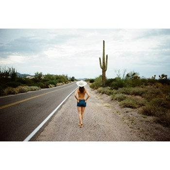 Conversation with a Saguaro by Megdalena Wosinska Photographic print, 42 x 27.8cm