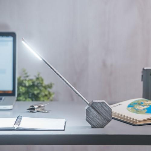 Octagon Desk light, L8.5 x W4 x H38cm, Ash