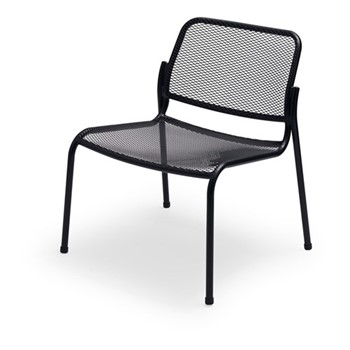 Mira Lounge chair, W63 x D64 x H73cm, anthracite black
