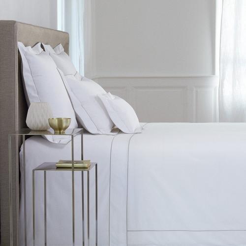 Flandre - 200 Thread Count Cotton Percale King pillowcase, 50 x 90cm, Platine
