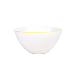 Abbesses Set of 4 medium bowls, D15.2 x H7.6cm, yellow rim