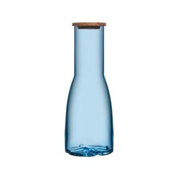 Bruk Carafe, 1.35 litre, water blue with oak lid