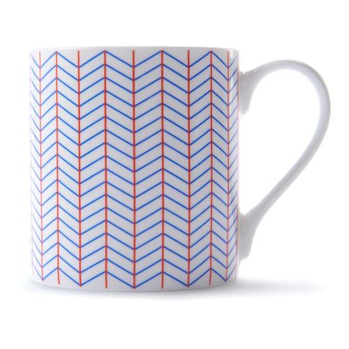 Ebb Mug, H9 x D8.5cm, Red/Blue