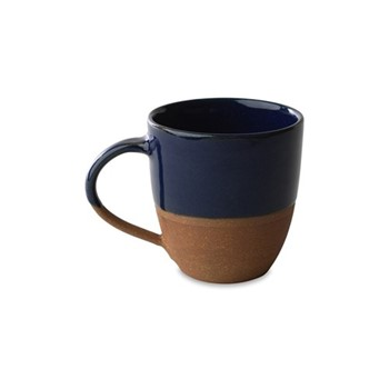 Mali Large mug, D10 x 9cm, navy & terracotta