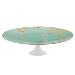 Paradis Petit four stand, H8 x D27cm, Turquoise
