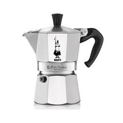 Moka Express Aluminium stovetop coffee maker (3 cup), silver