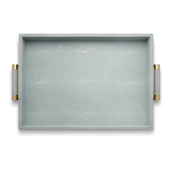 Classic Shagreen Serving tray, mist