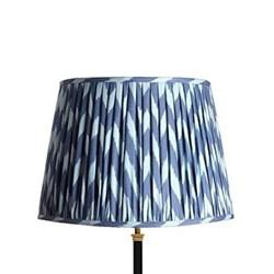 Ikat printed lampshade H27.5 x D40cm