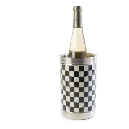 Courtly Check Wine cooler, 12cm, black & white
