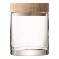 Lotta Container, 14cm, clear with ash lid