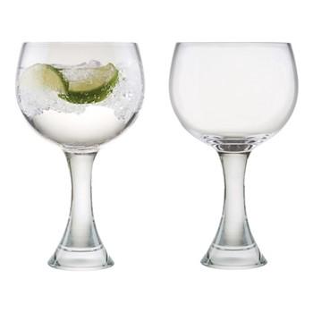 Manhattan Pair of gin glasses, W15 x H20cm, clear