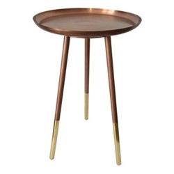Small round table, H52cm x Dia31cm, copper
