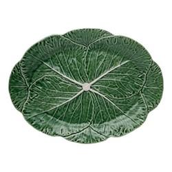 Cabbage Platter, 43 x 32 x 3cm, green