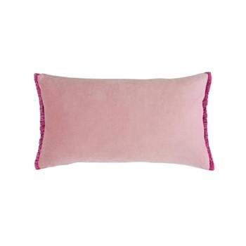 Fringe cushion, 50 x 30cm, blush