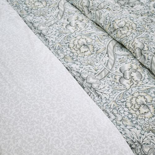 Wandle Super king size duvet cover, L220 x W260cm, Grey
